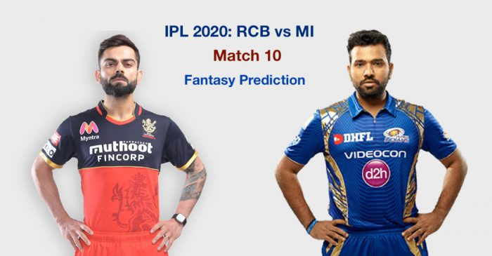 IPL 2020, Match 10: Royal Challengers Bangalore vs Mumbai Indians – Fantasy Cricket Tips, Playing XI & Pitch Report