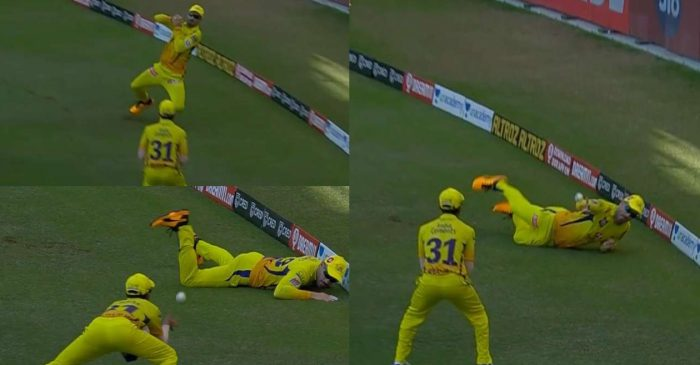 IPL 2020 – WATCH: CSK's Faf Du Plessis and Ruturaj Gaikwad combine to complete a relay catch against RCB