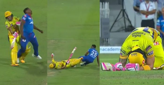 IPL 2020: WATCH – Faf du Plessis and Kagiso Rabada's brutal collision during DC vs CSK match
