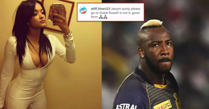 IPL 2020: Andre Russell's wife gives an epic reply to a fan asking her to be with the all-rounder in UAE