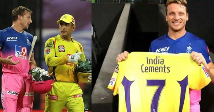 IPL 2020: MS Dhoni gifts his special 200th match jersey to Jos Buttler after CSK vs RR game