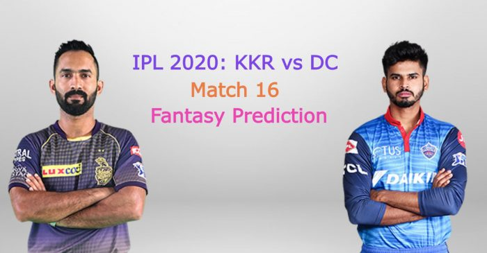 IPL 2020, Match 16: Kolkata Knight Riders vs Delhi Capitals – Fantasy Cricket Tips, Playing XI & Pitch Report