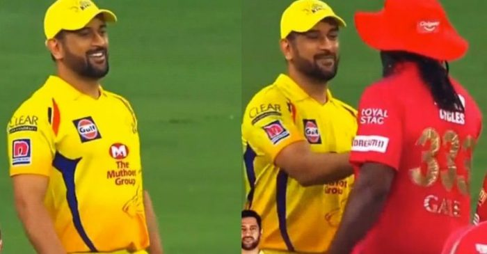 IPL 2020 – WATCH: MS Dhoni imitates Chris Gayle's walking style before meeting him