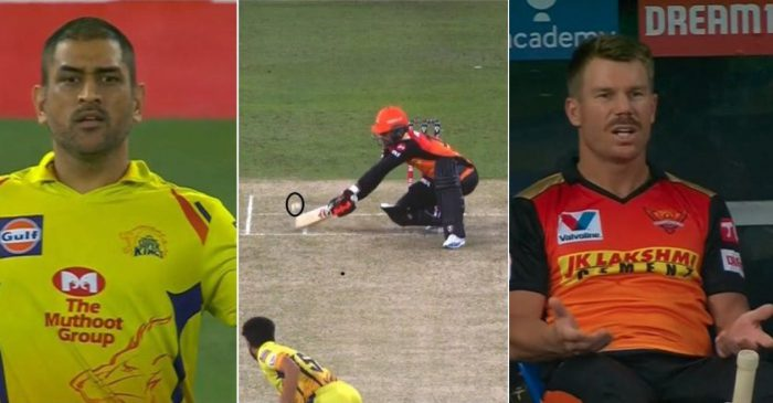IPL 2020: WATCH – Umpire withdraws wide call after MS Dhoni's protest; leaves David Warner bewildered
