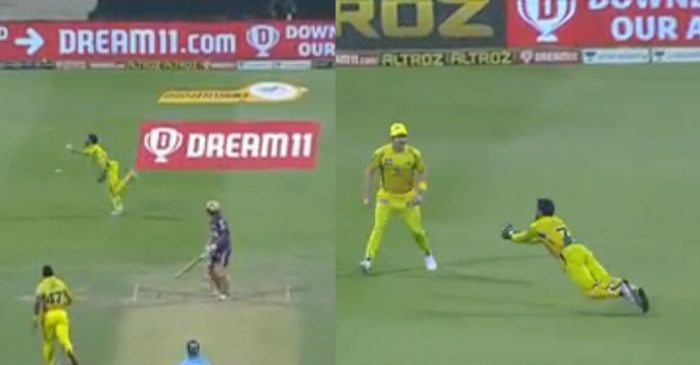 IPL 2020, KKR vs CSK – WATCH: MS Dhoni defies age, grabs a 'flying catch' to dismiss Shivam Mavi