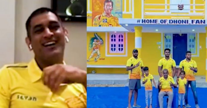 IPL 2020 – WATCH: MS Dhoni's heartwarming reaction after a die-hard fan paints his house in CSK colours