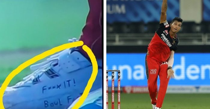 IPL 2020: 'F*** it! Bowl Fast' – the message on RCB pacer Navdeep Saini's shoe goes viral