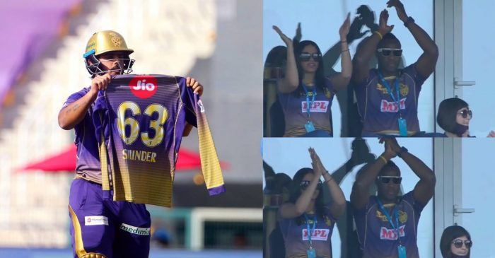 IPL 2020 – WATCH: Nitish Rana dedicates his knock to late father-in-law; Andre Russell & wife Jassym applauds
