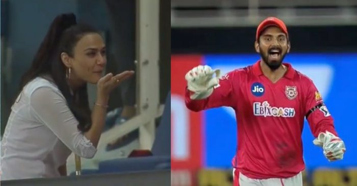 IPL 2020 – WATCH: KXIP owner Preity Zinta's flying kiss to KL Rahul & Co. after thrilling win over SRH