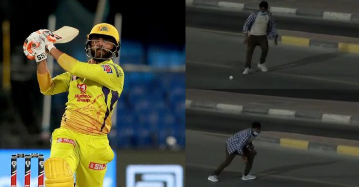IPL 2020 – WATCH: Ravindra Jadeja dispatches the ball out of Sharjah stadium; a lucky fan takes it home