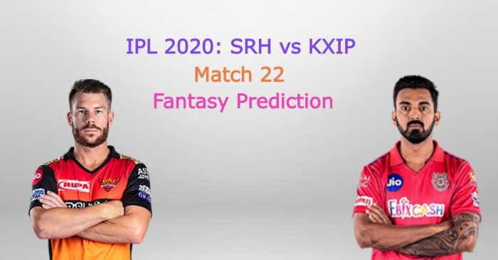 IPL 2020, Match 22: Sunrisers Hyderabad vs Kings XI Punjab – Fantasy Cricket Tips, Playing XI & Pitch Report