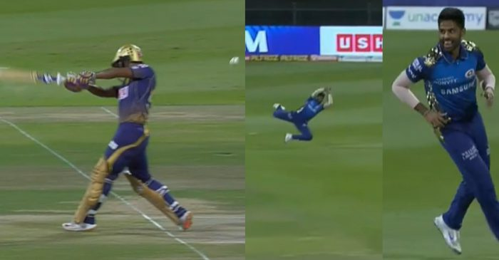 IPL 2020: WATCH – Surya Kumar Yadav takes a screamer to dismiss KKR opener Rahul Tripathi