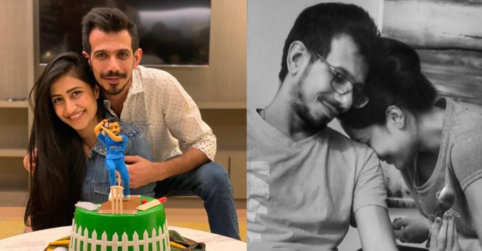 IPL 2020: Dhanashree Verma all-heart for her picture with fiancé Yuzvendra Chahal