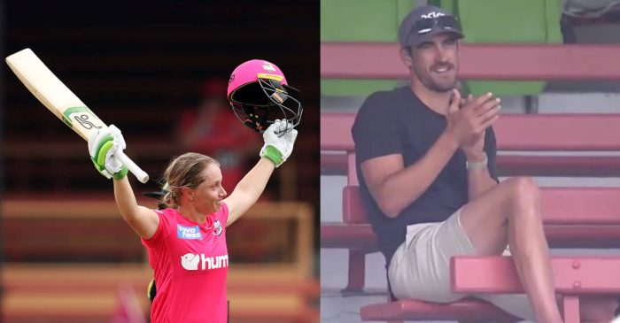 WATCH: Alyssa Healy hits a 48-ball century in WBBL; husband Mitchell Starc applauds from the stands