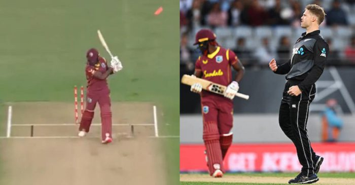 WATCH: Lockie Ferguson knocks over Andre Fletcher with an absolute ripper in NZ vs WI first T20I