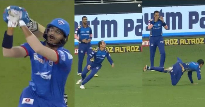 IPL 2020 – WATCH: Rahul Chahar takes a magnificent juggling catch to dismiss Axar Patel