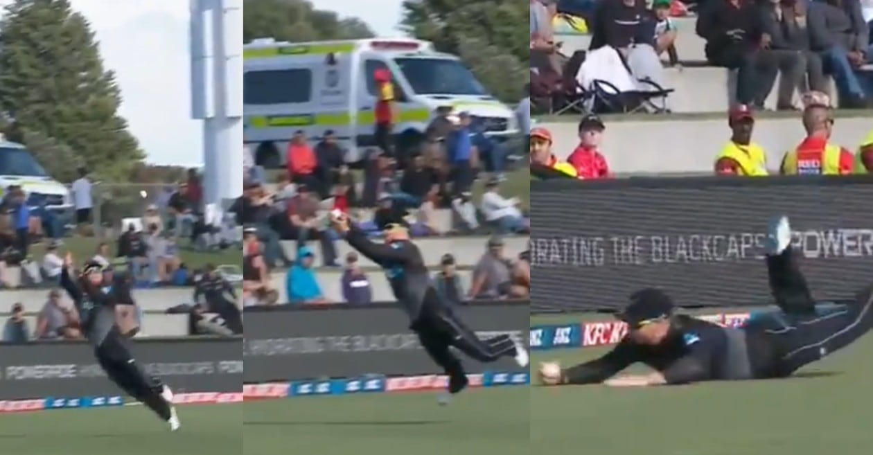 NZ vs WI: WATCH – Glenn Phillips takes a blinder to remove Kyle Mayers in 2nd T20I