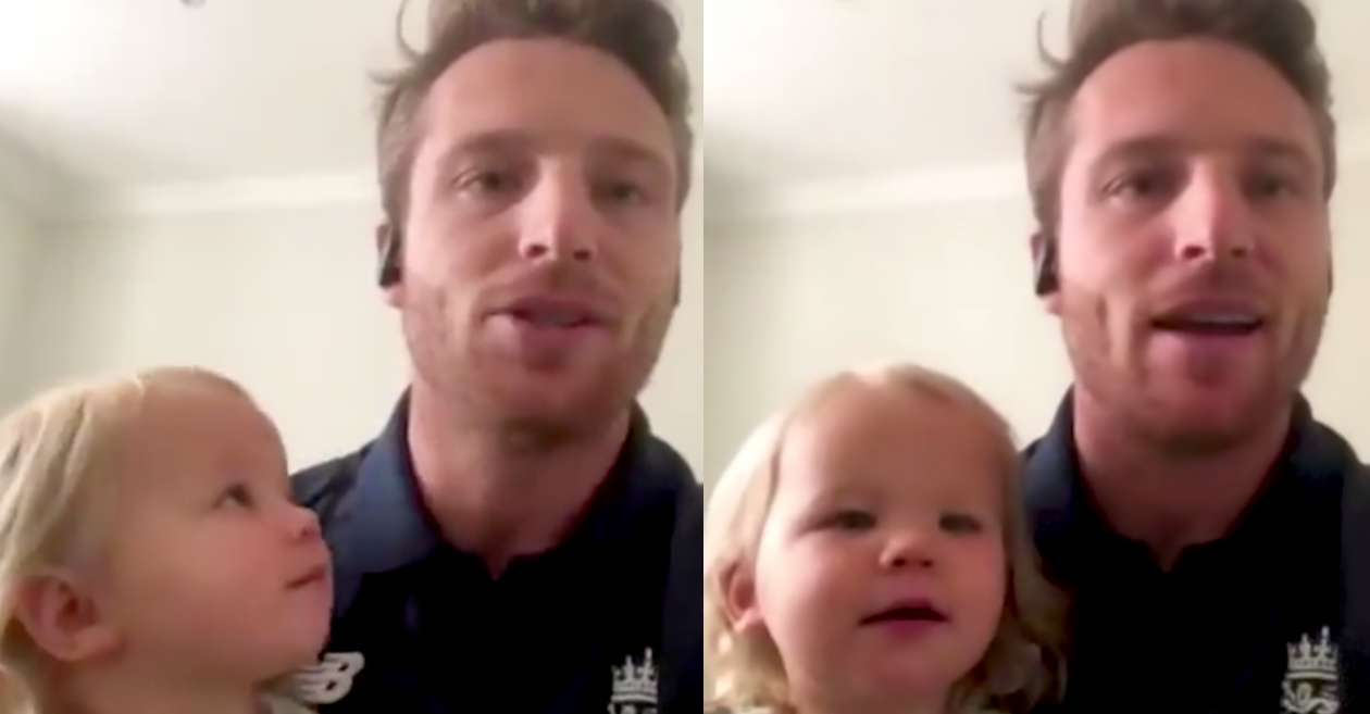 WATCH: Jos Buttler's daughter Georgia interrupts his online interview with reporters