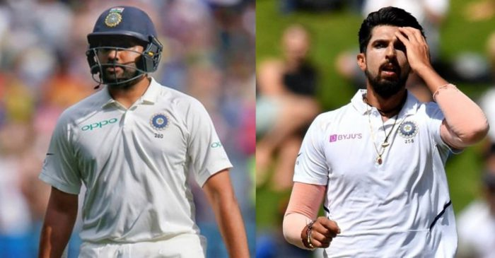 AUS vs IND: Rohit Sharma, Ishant Sharma ruled out of first two Tests