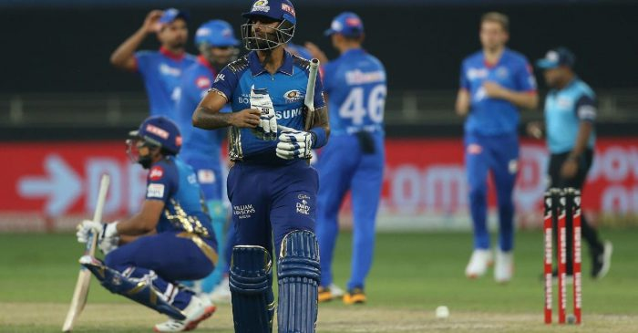 IPL 2020: WATCH – MI's Surya Kumar Yadav sacrifices his wicket for Rohit Sharma after a mix-up against DC