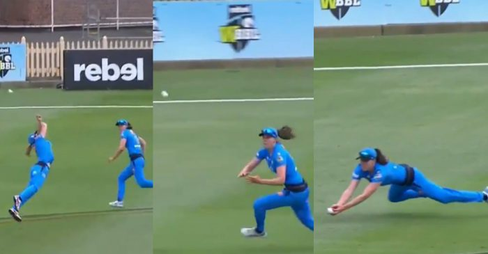 WATCH: Tahlia McGrath, Madeline Penna team up to take an incredible catch in Women's Big Bash League