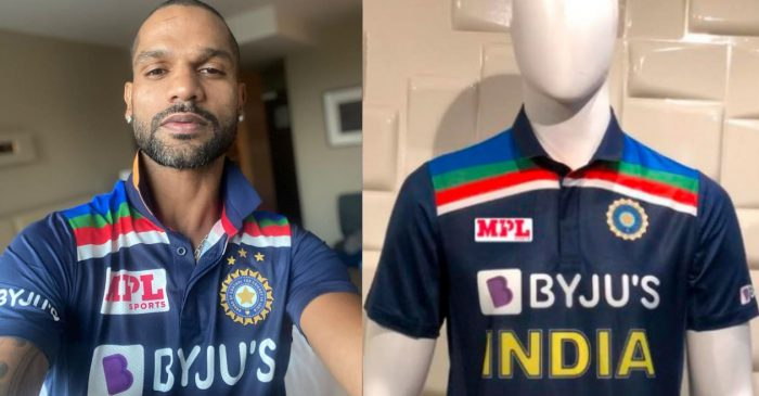 Shikhar Dhawan unveils new retro-look jersey of Team India