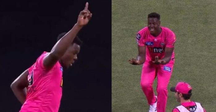 BBL 10: WATCH – Carlos Brathwaite pulls off unique celebration after taking Alex Carey's wicket