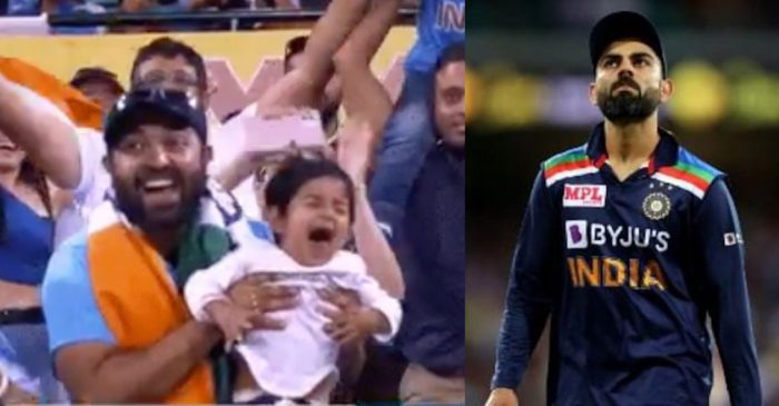 AUS vs IND: Video of a child crying during the Sydney T20I goes viral