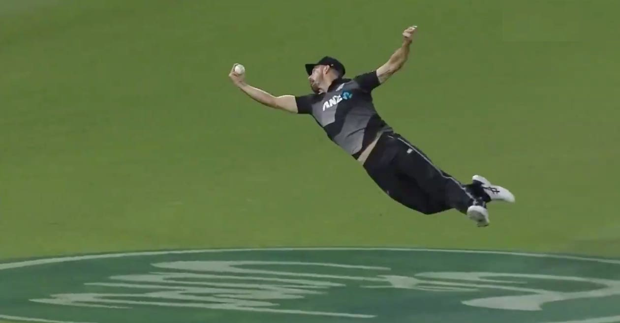 NZ vs PAK: WATCH – Daryl Mitchell takes a one-handed blinder to dismiss Haider Ali