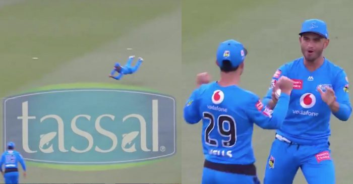 BBL 10: WATCH – Jake Weatherald takes a stunner to send back Will Jacks for a duck