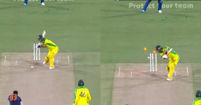 AUS vs IND – WATCH: Jasprit Bumrah cleans up Glenn Maxwell with an inch-perfect yorker in 3rd ODI