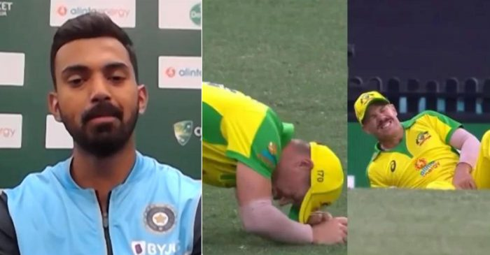AUS v IND: KL Rahul jokes on David Warner's injury; fans come up with mixed reactions