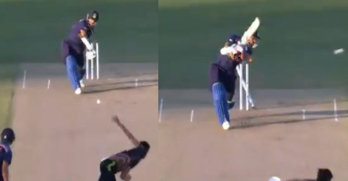 AUS vs IND: WATCH – Mitchell Starc cleans up Shikhar Dhawan with a peach of a delivery in 1st T20I