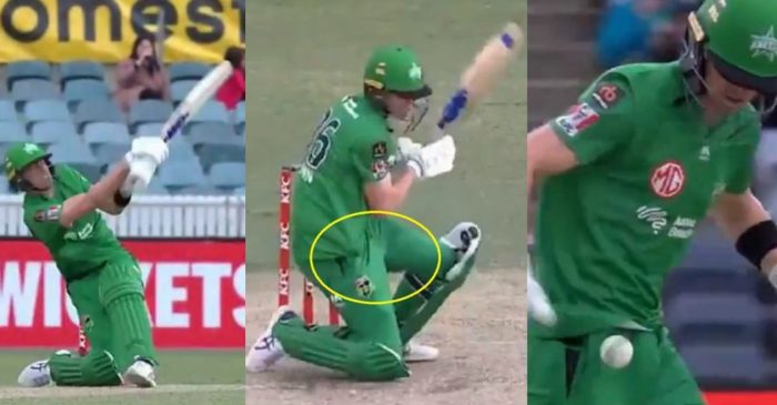 BBL 10 – WATCH: Melbourne Stars' Nick Larkin hides the ball in his jersey; runs for a cheeky single