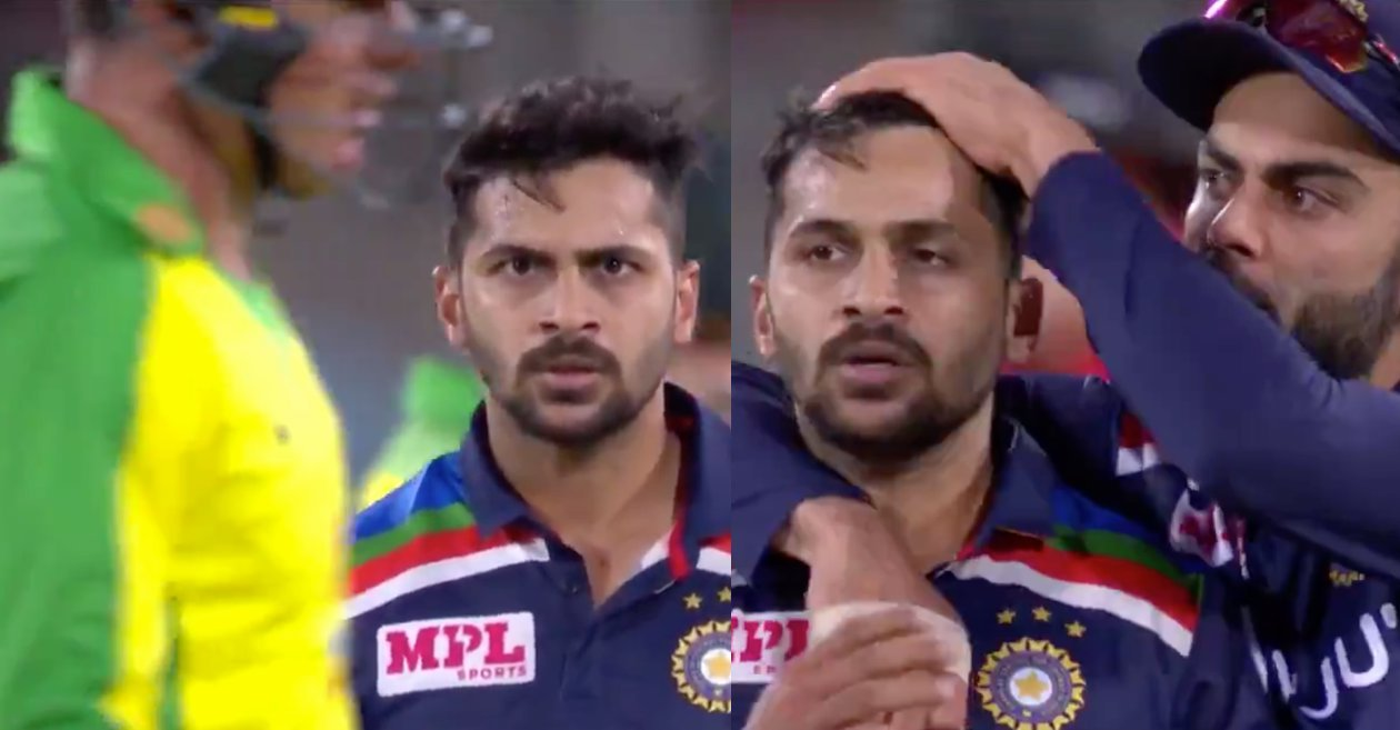 AUS vs IND: Shardul Thakur gives Moises Henriques a starry send-off; video goes viral