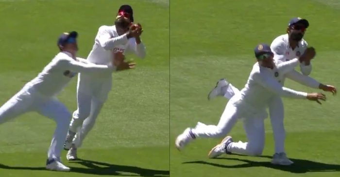 AUS v IND: WATCH – Ravindra Jadeja collides with Shubman Gill while completing a catch to dismiss Matthew Wade