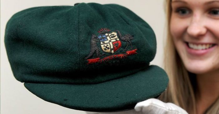 Sir Donald Bradman's baggy green sold for a record-breaking price