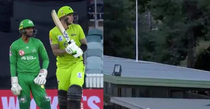 WATCH: Alex Hales hits the ball out of Manuka Oval twice during his fastest fifty in BBL history