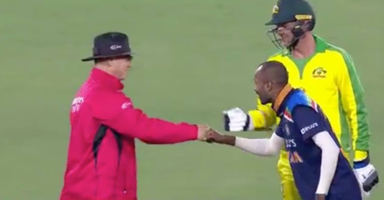 AUS vs IND – WATCH: Hardik Pandya's eagerness to fist bump with umpire leaves commentators in splits