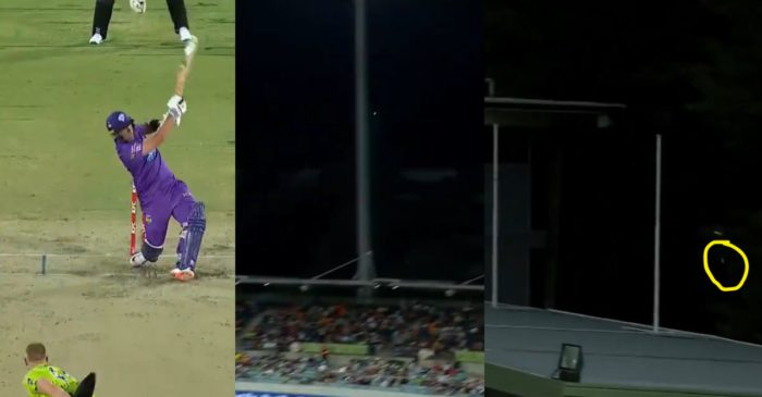 BBL 10 – WATCH: Ben McDermott smashes the ball out of Manuka Oval for a gigantic six