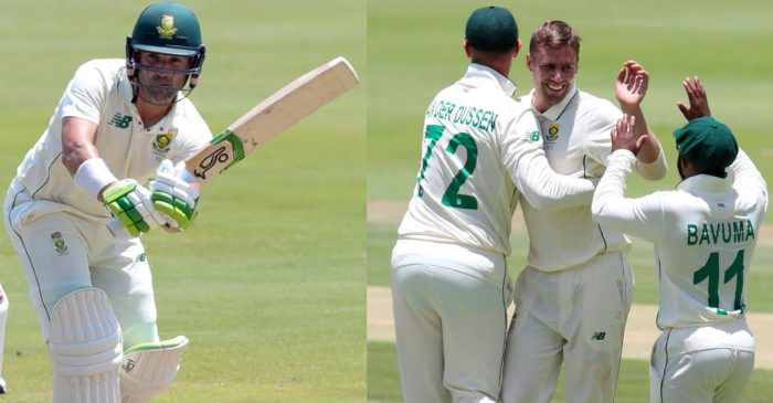 Twitter reactions: Dean Elgar, Anrich Nortje put South Africa in box seat against Sri Lanka at Wanderers