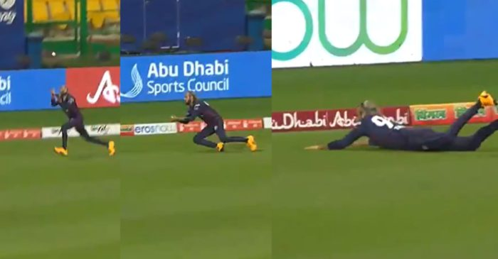 WATCH: 41-year-old Imran Tahir takes a sensational running catch in T10 League
