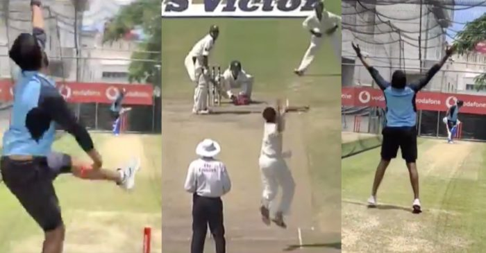 WATCH: Jasprit Bumrah does an Anil Kumble in the nets ahead of England series