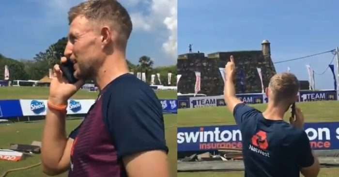 Joe Root makes a phone call to an English fan who waited for 10 months in Sri Lanka to watch England play