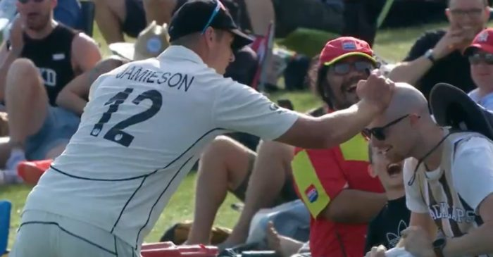 NZ vs PAK: WATCH – Kyle Jamieson wins hearts by giving an autograph on a bald man's head