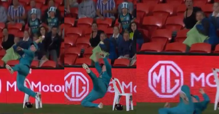 BBL 2020-21: WATCH – Max Bryant does a Sanju Samson with remarkable fielding effort at the boundary rope