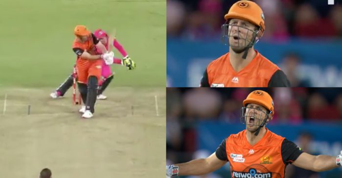 WATCH: Mitchell Marsh swears at umpire after howler in BBL 10 Qualifier
