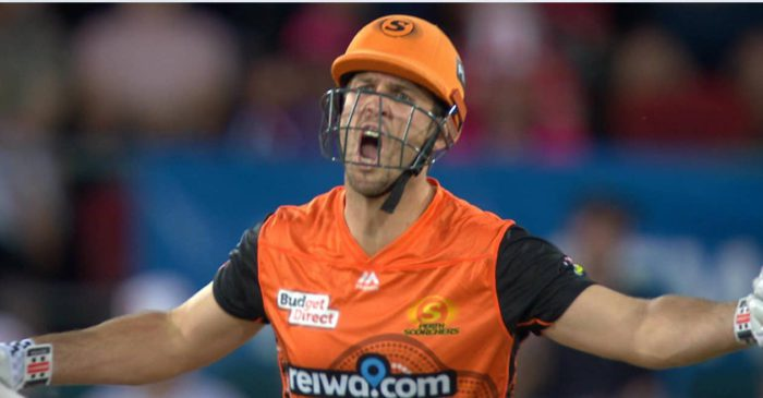 Mitchell Marsh cops fine for screaming at the umpire during BBL 10 Qualifier