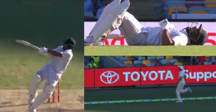 WATCH – Rishabh Pant falls on the ground while smacking Josh Hazlewood during his heroic knock in Gabba Test