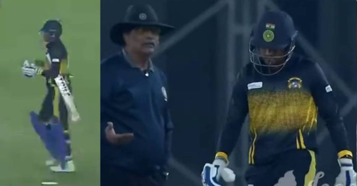 WATCH: Siddarth Kaul dons a helmet with BCCI logo during SMAT 2021 match, umpires ask him to cover it